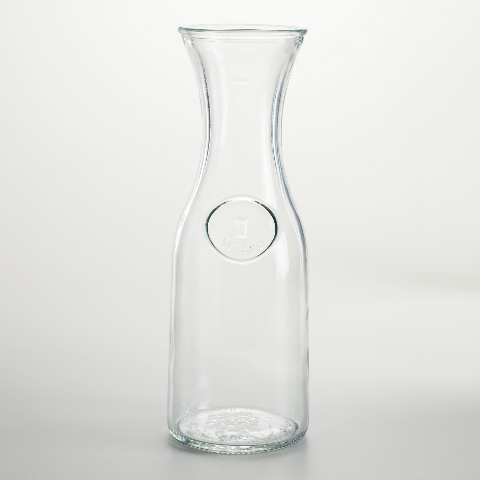Pitcher glass carafe