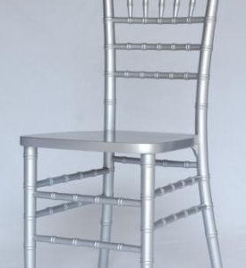 silver chiavari includes black or ivory pad