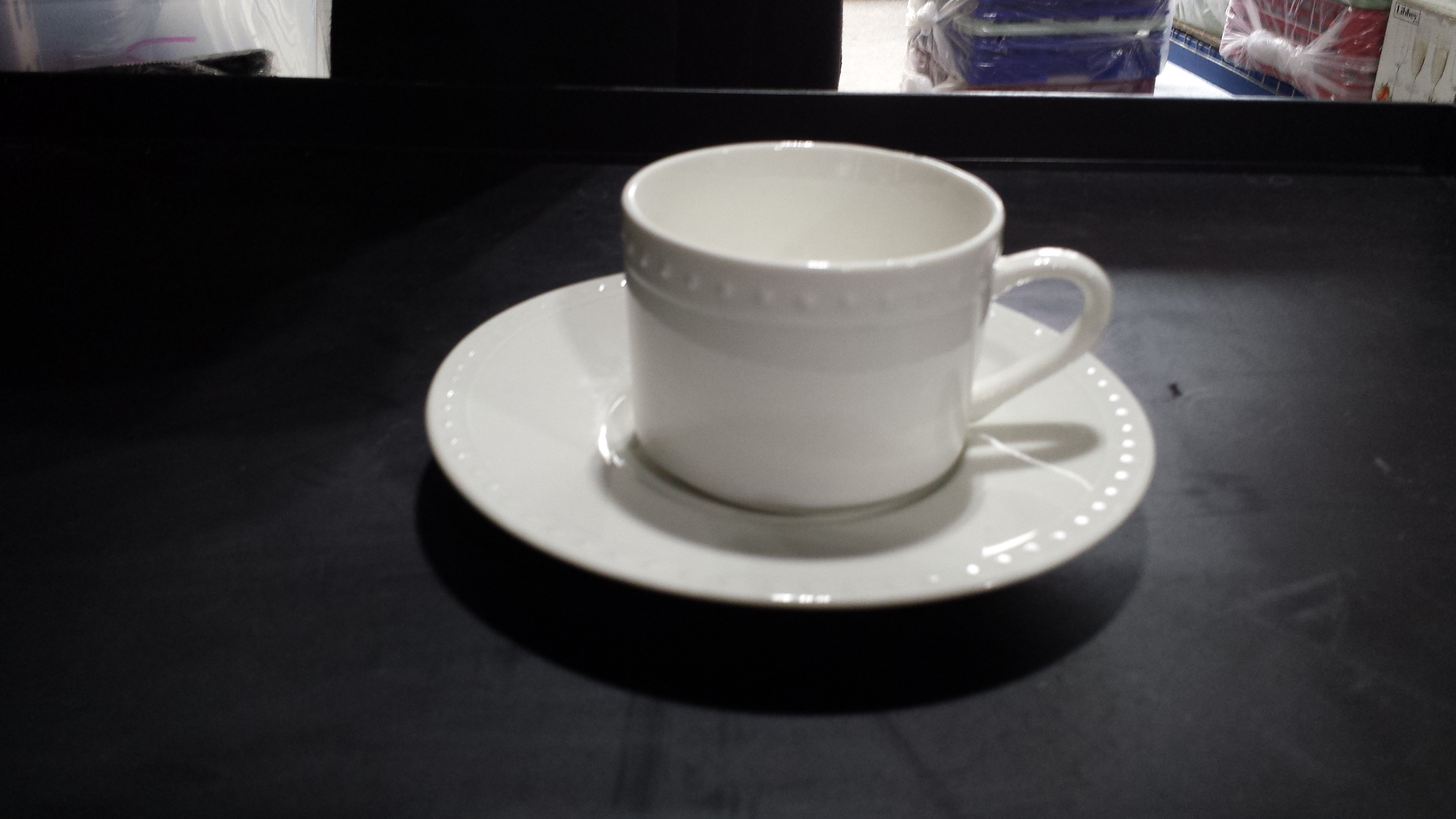 Basic White China With Dots Available With Or Without