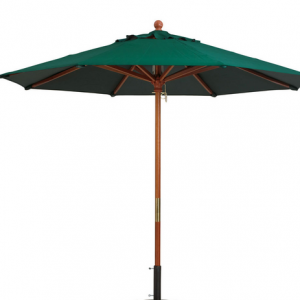 11foot market umbrella green with base