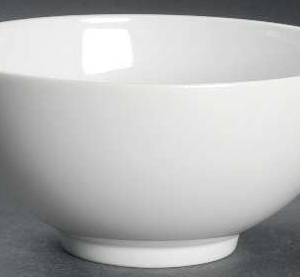 Large white porcelain bowl 32oz 10inches