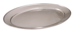 Stainless steel oval platter 14inch
