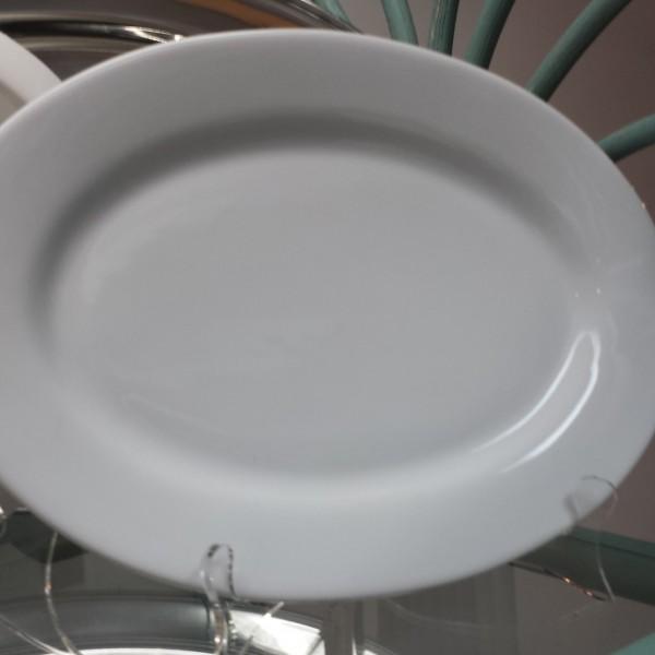 white 12inch oval platter