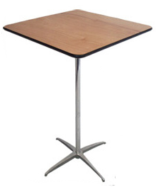 24inch square table