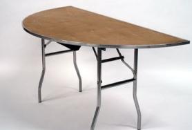 "Half Moon Table half moon table 60"" | platinum event rentals"