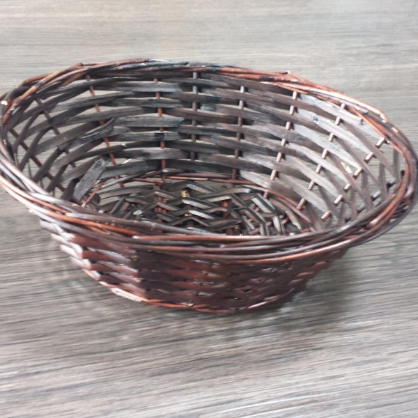 Dark wicker bread basket
