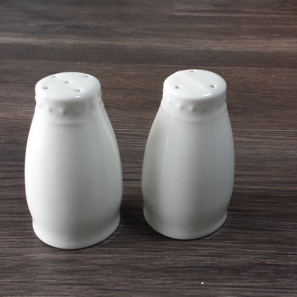 white china salt and pepper shakers (include salt and pepper)