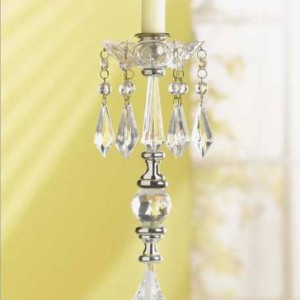 clear crystal single candelabra