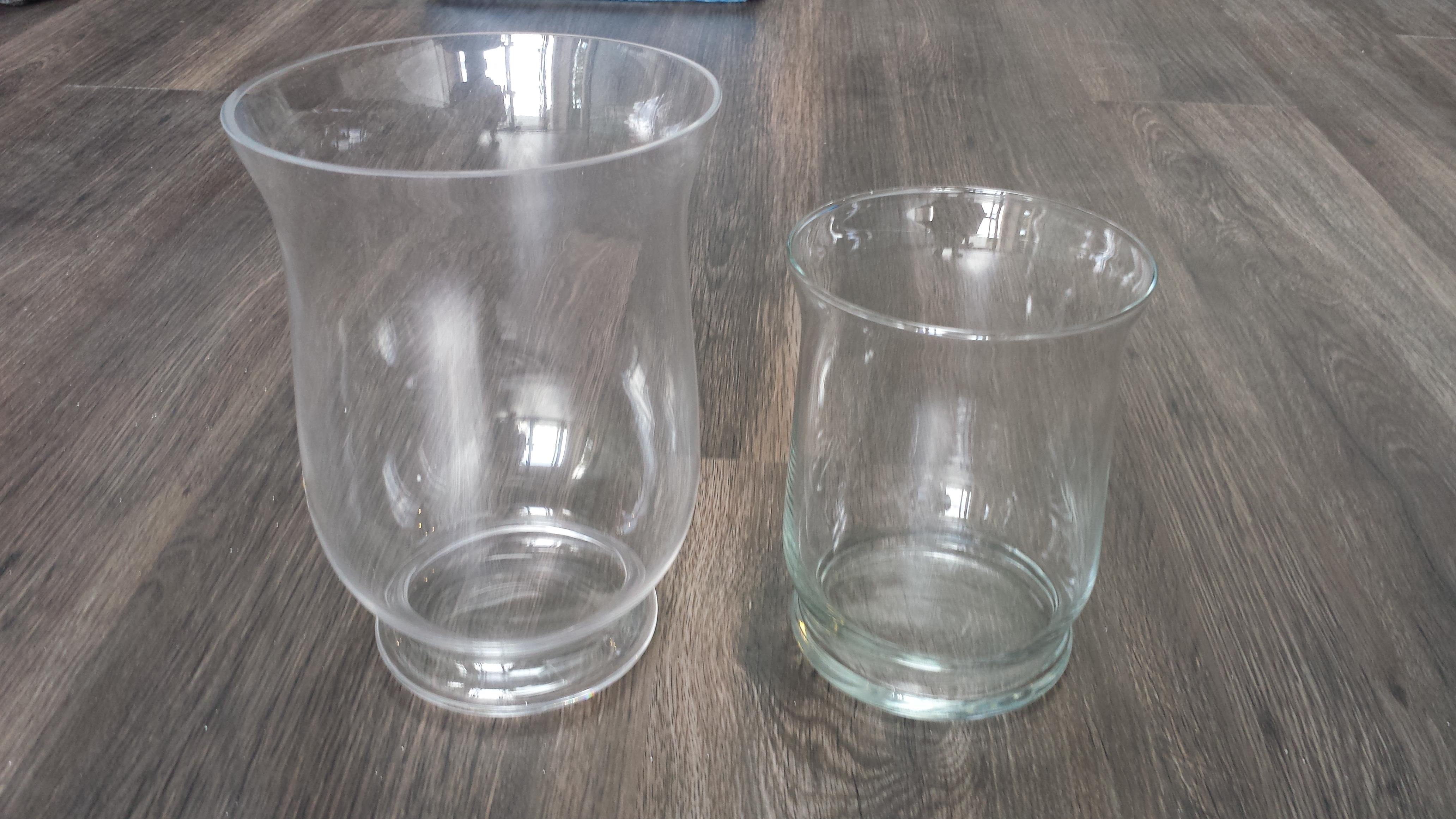 Hurricane Vase Clear Glass 12 Platinum Event Rentals