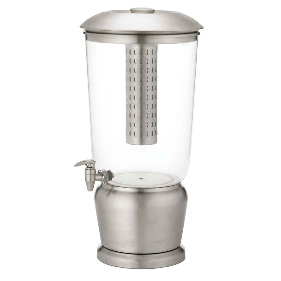 Beverage Dispenser Acrylic And Stainless With Ice