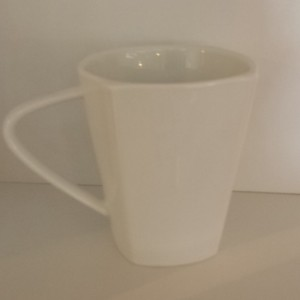 white square coffee cup