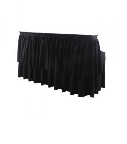 6 foot double tiered bar, black skirting included