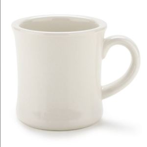 Coffee cup, ivory diner style coffee mug