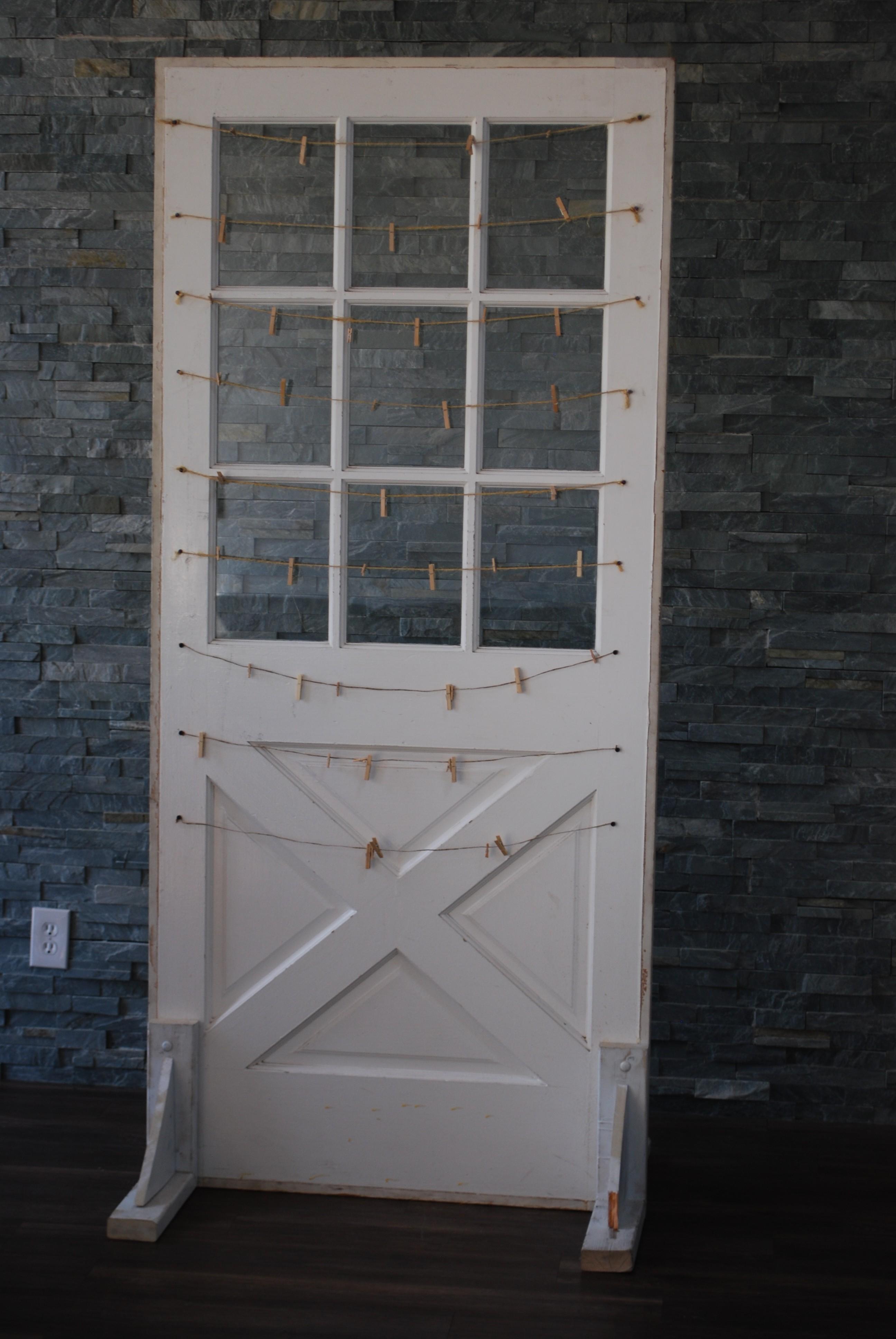 Door Free Standing White With Windows Platinum Event