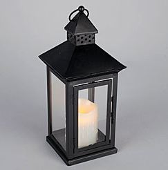 Lantern Wrought Iron Battery Operated Led