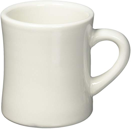 Coffee Cup Ivory Diner Style Coffee Mug Platinum Event Rentals