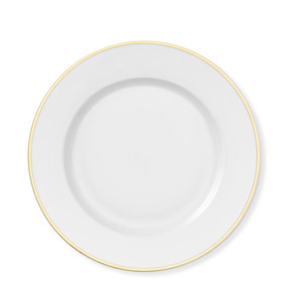 Gold Rim White Dinner Plate