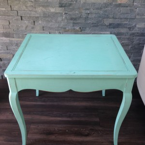 Antique Turq End Table