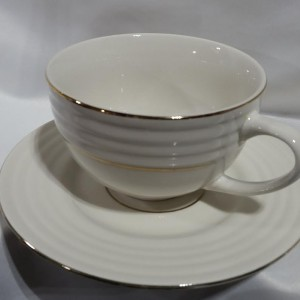double gold rimmed coffee