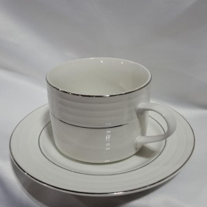 double silver rimmed coffee