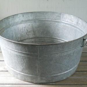 galvenized ice tub