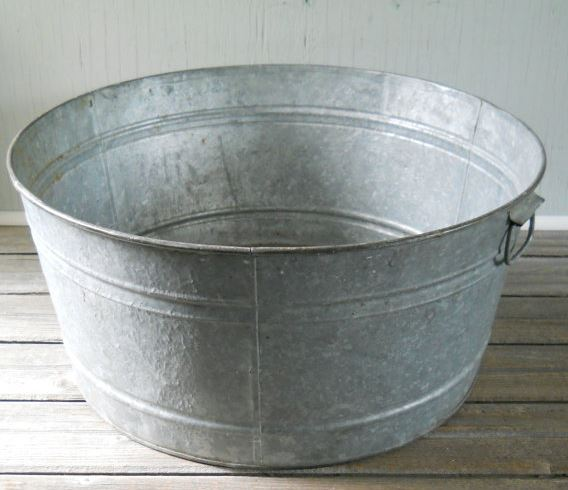 drinks ice tub bucket galvanised ebay itm marquee cooler