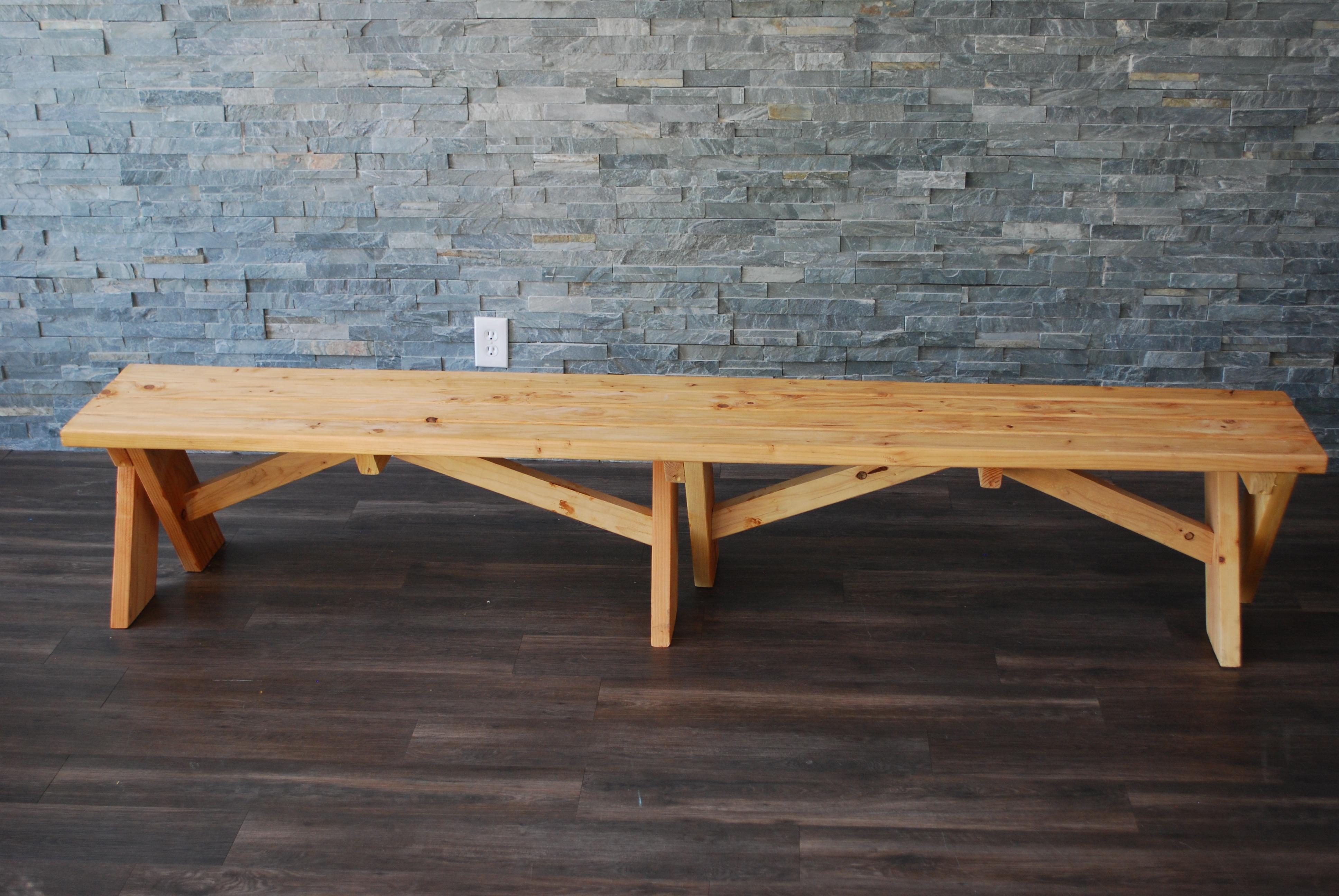 Natural Wood Picnic Table Amp Benches Platinum Event Rentals