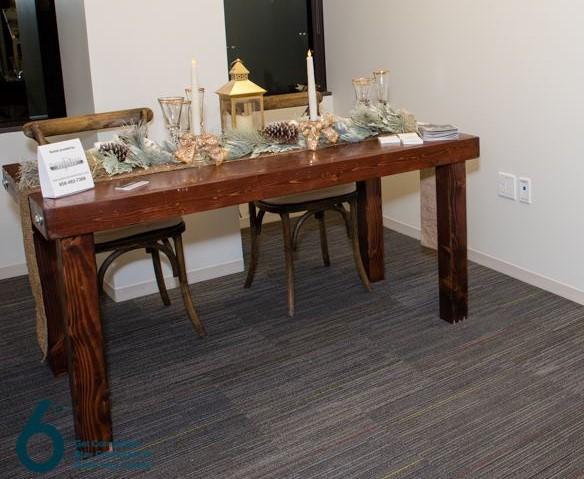 Rustic Wood Sweetheart Farm Table