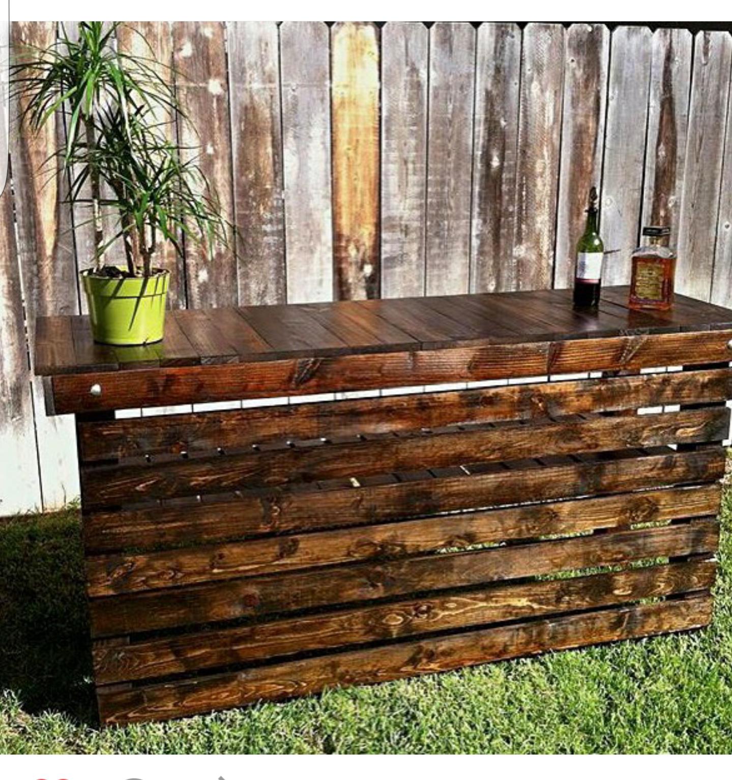 Rustic Wood Bar Horizontal 5ft Platinum Event Rentals